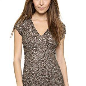 Parker Beaded Bronze Dress